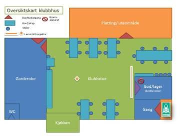 Klubbhus - Oversiktskart