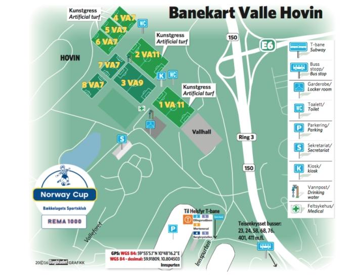 Banekart Valle Hovin